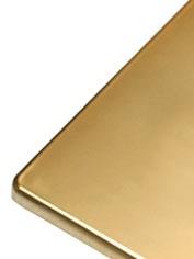 Voorpaneel goudkleur EVOLUTION Led
