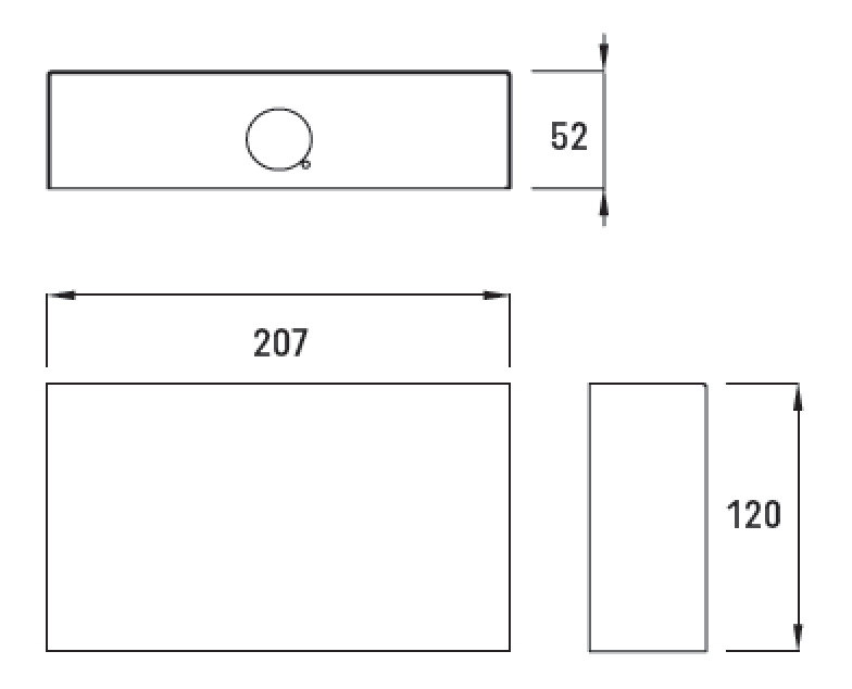 VIALED WALL DIMENSIONS